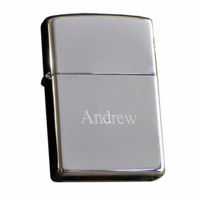 Personalized High Polish Chrome Lighter