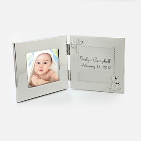 Personalized Hinged Baby Picture Frame