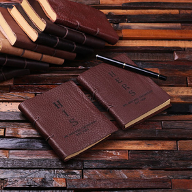 Personalized His & Her Leather Journal Set