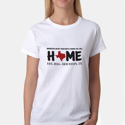 Personalized Home State Ladies' T-Shirt