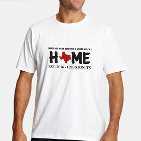 Personalized Home State Man's T-Shirt