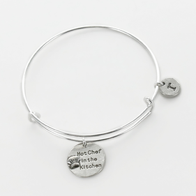 Personalized Hot Chef In The Kitchen Charm Bangle