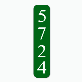 Personalized House Number Address Sign