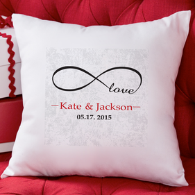 Personalized Infinity Love Decorative Cushion Cover
