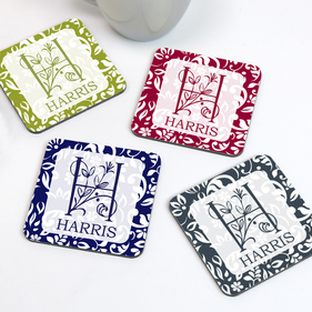 Personalized Family Coaster Set of Four