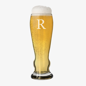 Personalized Initial Pilsner Beer Glass