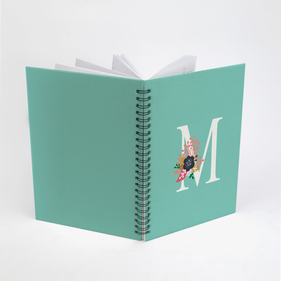 Personalized Initial Spiral Notebook