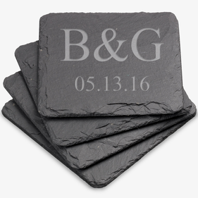 Personalized Square Slate Coasters