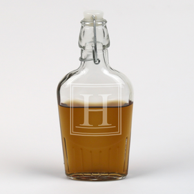 Personalized Initial Whiskey Flask