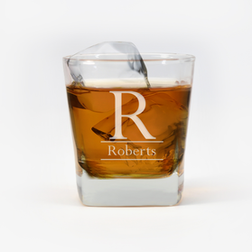 Personalized Initial Whiskey Glass