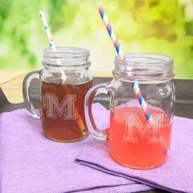 Personalized  Jar Glasses Set of Two