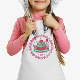 Little Cherry Cupcakes Custom Kids Apron