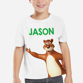 Personalized Kids Bear T-Shirt