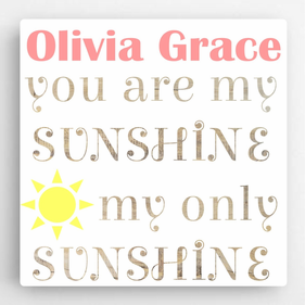 Personalized Kids Canvas Sign-Sunshine