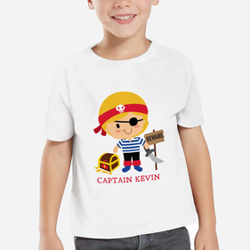 Personalized Kids Character Pirate T-Shirt