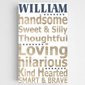 Personalized Kids Definition Canvas Sign-Boy