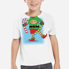 Personalized Kids Elf T-Shirt