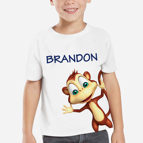 Personalized Kids Monkey T-Shirt