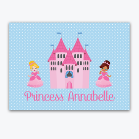 Personalized Kids Princess Placemat