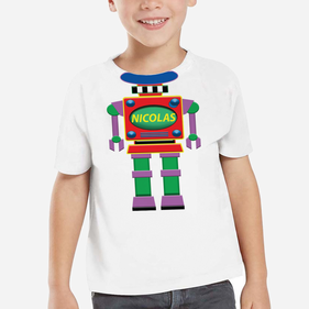 Personalized Kids Robot T-Shirt