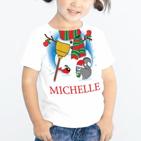 Personalized Kids Snowman T-Shirt