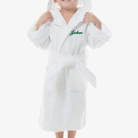 Personalized Kids Terry Hooded Bathrobe