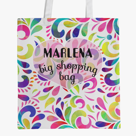 Personalized Big Shopping Tote Bag