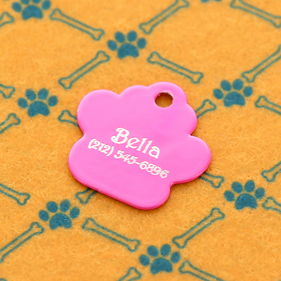 Personalized Paw Pink Dog Tag