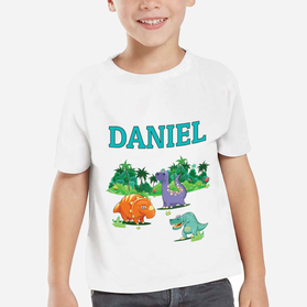 Personalized Dinosaur Kids T-Shirt