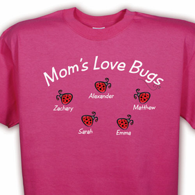 Personalized Love Bugs T-Shirt