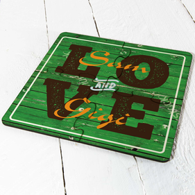 Personalized Love Coaster Puzzle