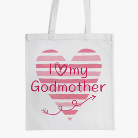 Personalized Love Heart Kids Tote Bag