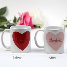 Personalized Loved One Heart Magic Mug