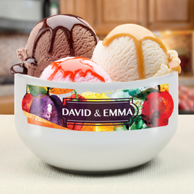 """Personalized """"Made With Love"""" Couples Bowl"""