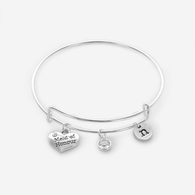 Personalized Maid of Honour Charm Bangle