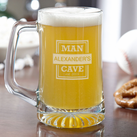 Personalized Man Cave Beer Mug