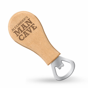 Personalized Man Cave Magnetic Bottle Opener