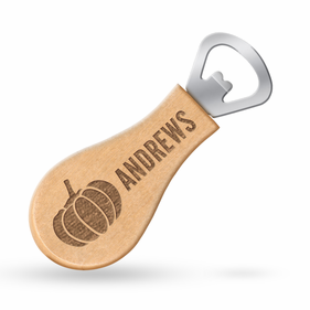 Personalized Maple Magnetic Pumpkin Bottle Opener