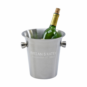 Personalized Matte Finish Wine Cooler With Knob Style Handles
