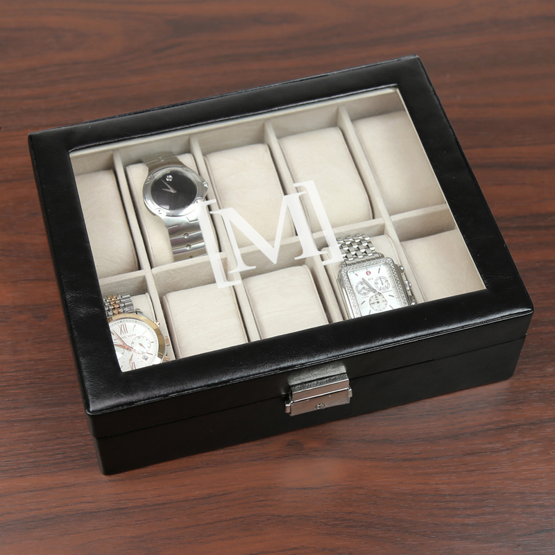 personalized men s watch case monogram online personalized men s watch case