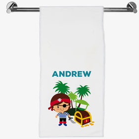 Personalized Pirate Hand Towel