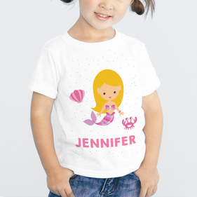 Personalized Mermaid Kid's T-Shirt