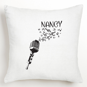 Personalized Microphone Cushion Cover