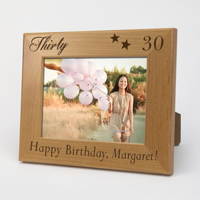 Personalized Milestone Happy Birthday Wood Picture Frame