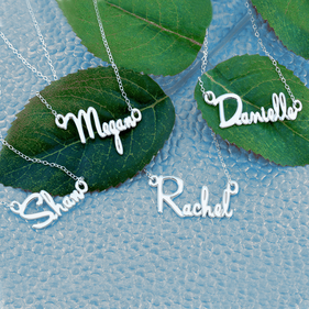Sets of Personalized Mini Name Necklaces