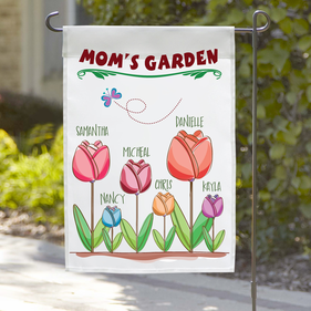 Personalized Mom's Flower Garden Flag