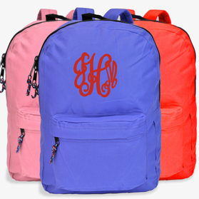 Personalized Script Monogram Backpack