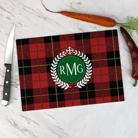 Personalized Monogram Glass Cutting Board