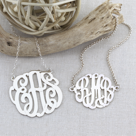 Personalized Monogram Necklace and Bracelet Set