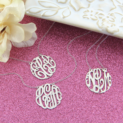 Sets of Personalized Monogram Necklaces
